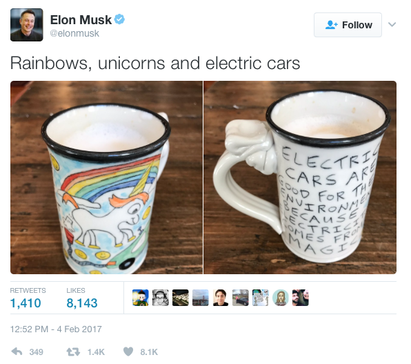 Elon Musk under attack over use of potter's farting unicorn image