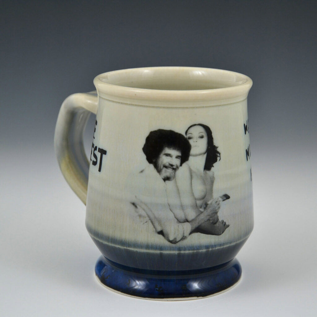 """We don't make mistakes, just happy little accidents."" - porcelain cup"